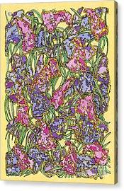 Lilacs Electric Acrylic Print by Mag Pringle Gire