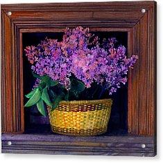 Lilacs Framed Acrylic Print