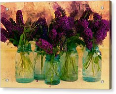 Butterfly Bush In Jars Acrylic Print