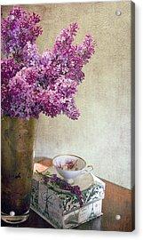 Lilacs In Vase 3 Acrylic Print