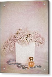 Lilacs Pearls And Perfume Acrylic Print by Rebecca Cozart