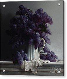 Lilacs Study No.2 2011 Acrylic Print by Larry Preston