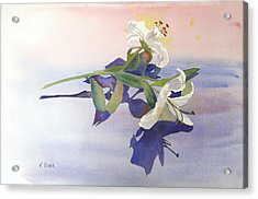 Lilies At Rest Acrylic Print by Patricia Novack