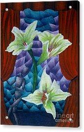 Lilies Acrylic Print by Coriander  Shea