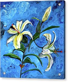 Lilies Acrylic Print by Gregory Allen Page