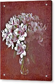 Acrylic Print featuring the photograph Lilies In Vase by Diane Alexander