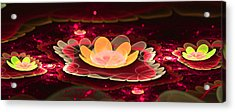 Lilies On Lava Bed Acrylic Print by Ester  Rogers