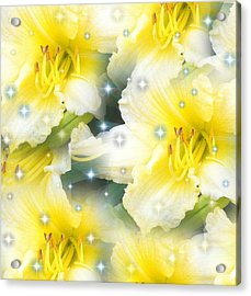 Lilies Photograph By Saribelle Rodriguez Acrylic Print by Saribelle Rodriguez