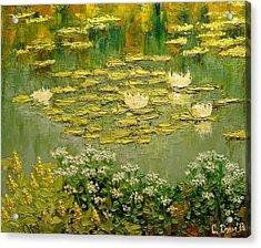 Lilies Acrylic Print by Svetla Dimitrova