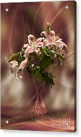Lilies With Floating Vas Acrylic Print