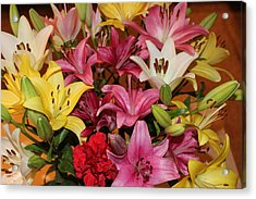 Acrylic Print featuring the photograph Lilies by John Mathews