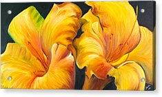 Acrylic Print featuring the painting Lillies by Sheri  Chakamian