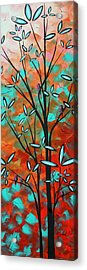 Lilly Pulitzer Inspired Abstract Art Colorful Original Painting Spring Blossoms By Madart Acrylic Print by Megan Duncanson