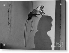 Lily And Male Figure Shadow Acrylic Print