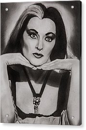 Lily Munster Acrylic Print by Brian Broadway