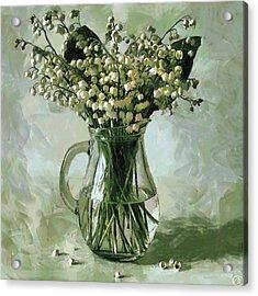 Lily Of The Valley Acrylic Print by Vasiliy Agapov