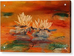 Lily Pad Acrylic Print by PainterArtist FIN