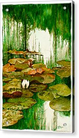 Reflections Among The Lily Pads Acrylic Print