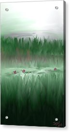 Acrylic Print featuring the digital art Lily Pads by Jessica Wright