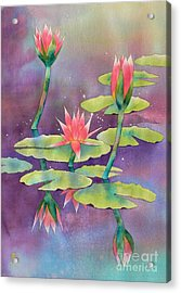 Lily Pond Acrylic Print by Robert Hooper
