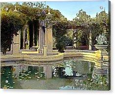 Lily Pond Acrylic Print by Terry Reynoldson