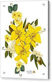 Lily Triplets Acrylic Print by Anne Norskog