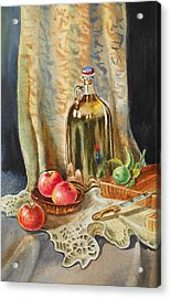 Lime And Apples Still Life Acrylic Print by Irina Sztukowski