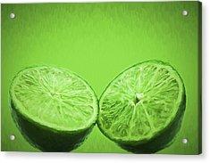 Lime Food Painted Digitally 2 Acrylic Print