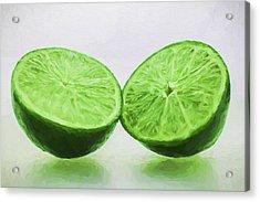 Lime Food Painted Digitally 3 Acrylic Print by David Haskett