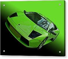Lime Green Lamborghini Murcielago Acrylic Print