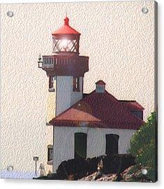 Lime Kiln Lighthouse Acrylic Print by John Hines