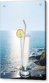 Lime Soda Acrylic Print by Atiketta Sangasaeng