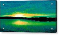 Lime Sunset Acrylic Print