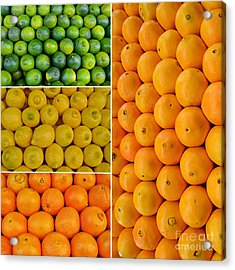 Limes Lemons Oranges Acrylic Print by Sabine Jacobs