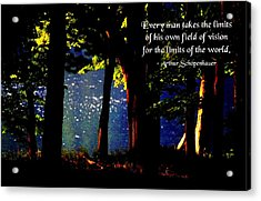 Limits Of Vision Acrylic Print by Mike Flynn