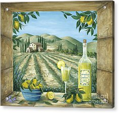 Limoncello Acrylic Print by Marilyn Dunlap