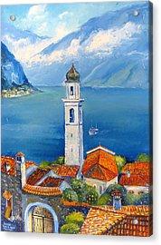 Limone-lago Di Garda Acrylic Print by Mikhail Zarovny