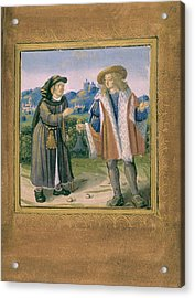 Limping In Front Of A Lame Person Acrylic Print by British Library