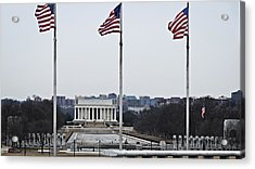 Lincoln And Wwii Monuments 1 Acrylic Print