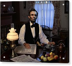 Lincoln At Breakfast 2 Acrylic Print