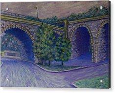 Lincoln Ave Bridge Pittsburgh Acrylic Print by Joann Renner