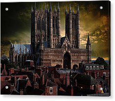 Lincoln Cathedral Acrylic Print by Martin Billings