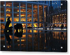 Lincoln Center Gold Acrylic Print