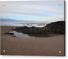 Lincoln City Beach Acrylic Print by Karen Molenaar Terrell