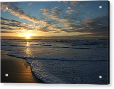 Lincoln City Beach Sunset Acrylic Print