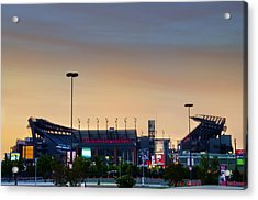 Lincoln Financial Field In A New Light Acrylic Print by Bill Cannon