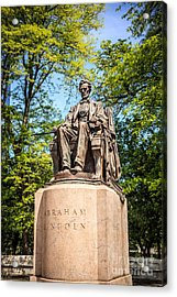 Lincoln Head Of State Statue In Chicago Acrylic Print