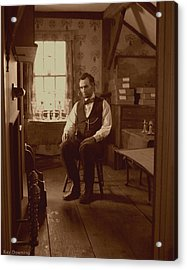 Lincoln In The Attic Acrylic Print by Ray Downing