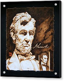 Lincoln Memorial And The Younger Acrylic Print by Cynthia Adams