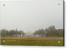 Lincoln Memorial And World War II Memorial - Washington Dc - 01131 Acrylic Print by DC Photographer